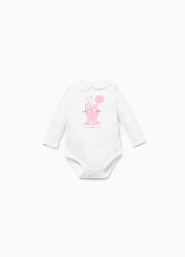 100% cotton bodysuit with animal print