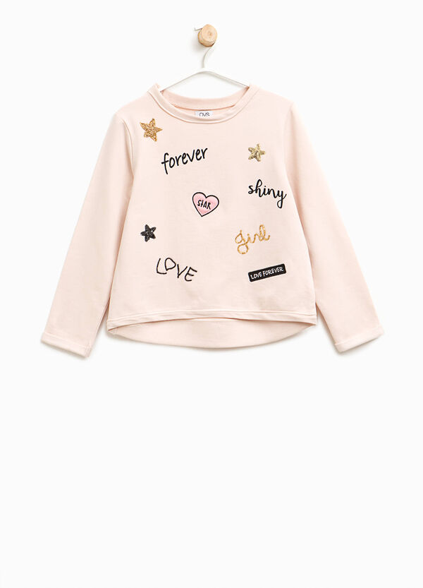 Sweatshirt with print and patch | OVS