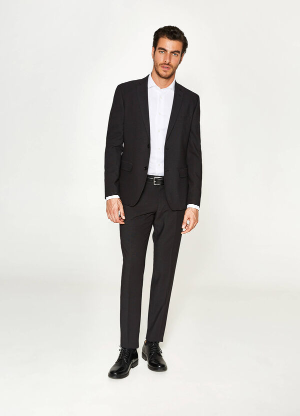 Slim-fit suit in stretch viscose | OVS