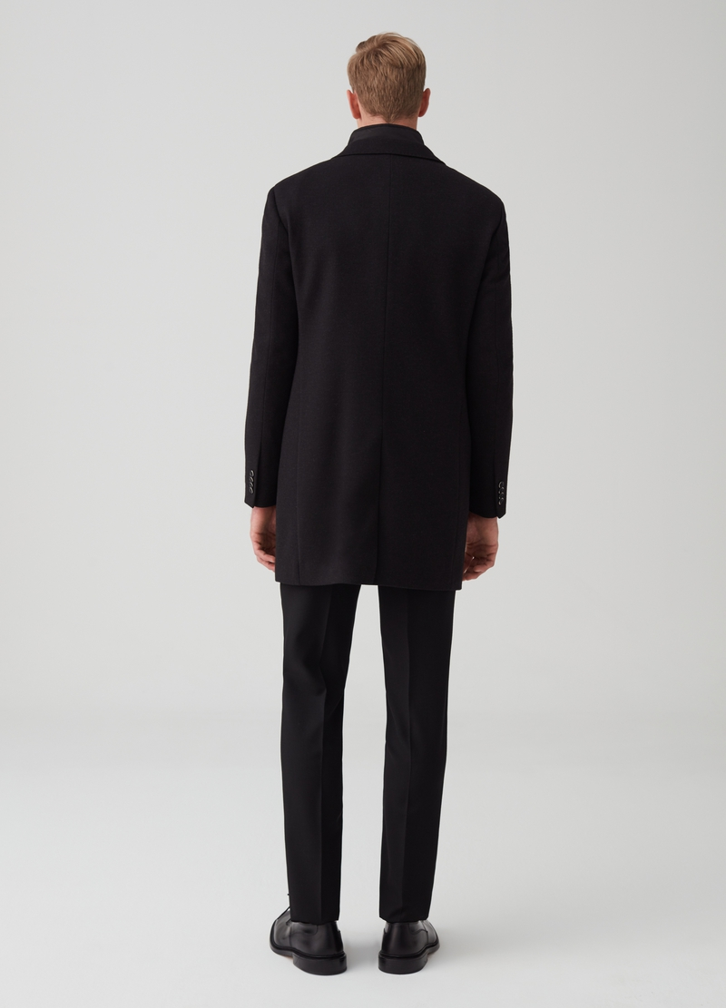 Regular-fit coat with lapels image number null