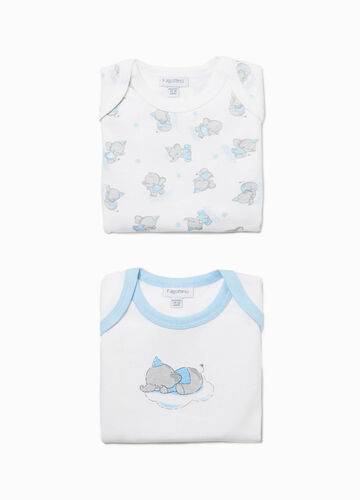 Two-pack elephant undershirts