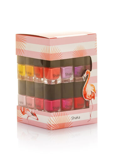 Cube of 14 nail varnishes