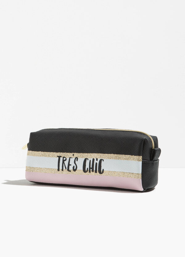 Beauty bag with lettering print | OVS
