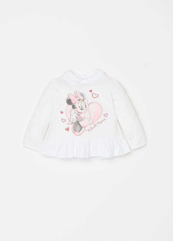 T-shirt puro cotone stampa Disney Minnie