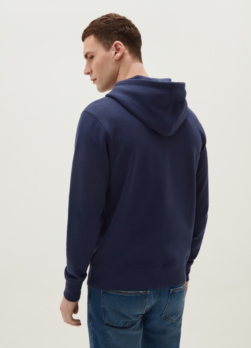 Full-zip sweatshirt with hood and pocket image number null