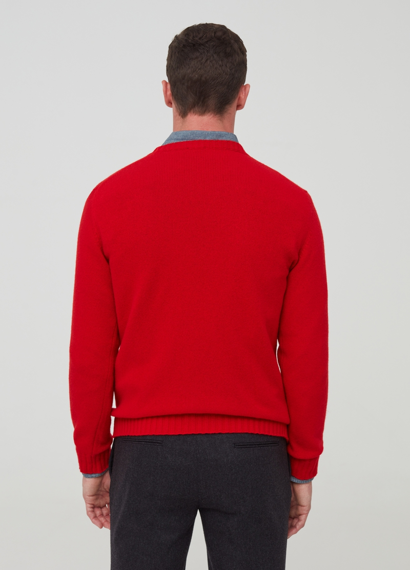 PIOMBO pullover in 100% lambswool image number null