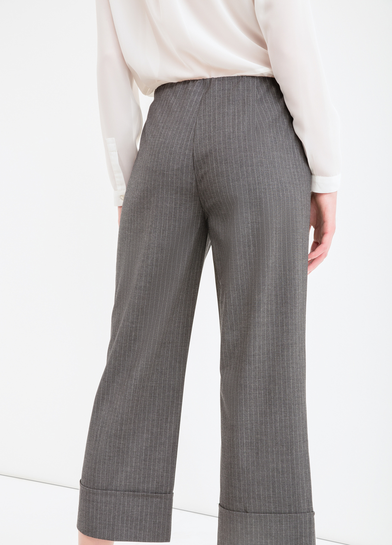 Pantaloni viscosa stretch a righe image number null
