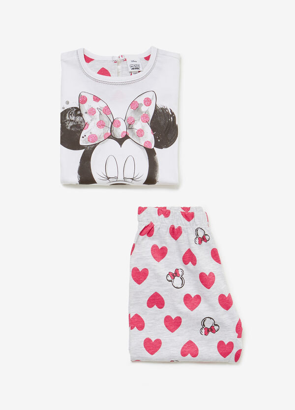 100% cotton pyjamas with hearts and Minnie Mouse