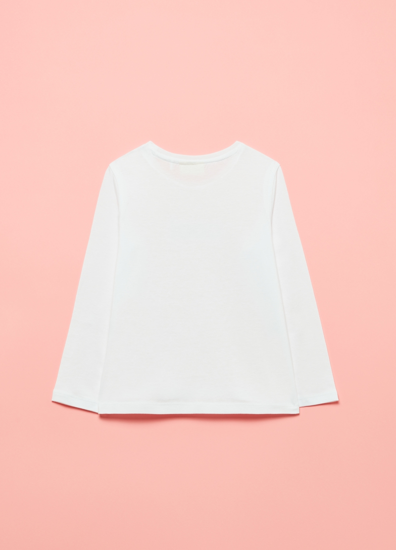 Long-sleeved T-shirt with diamantés image number null