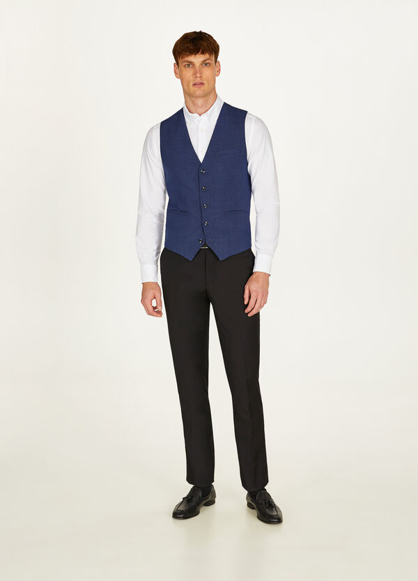 Solid colour slim-fit stretch gilet
