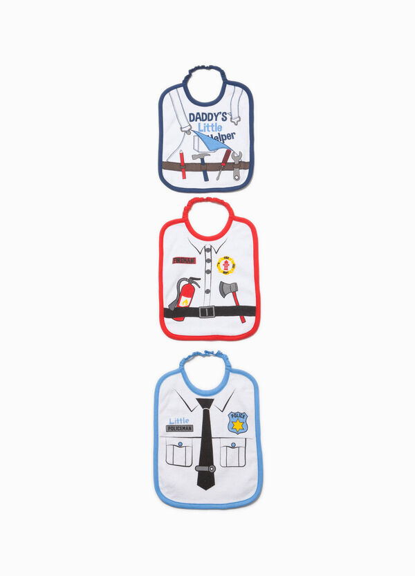 Three-pack printed bibs in 100% cotton | OVS