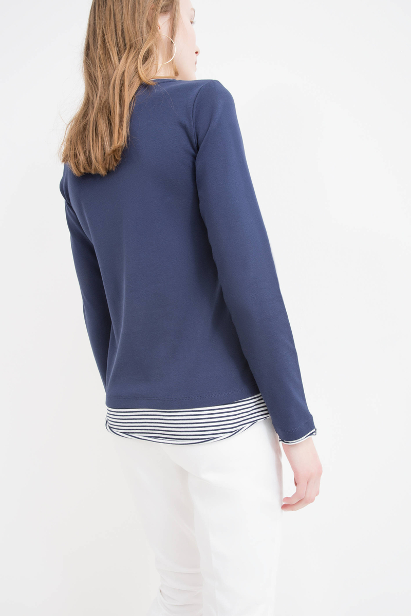 Faux layered 100% cotton T-shirt image number null