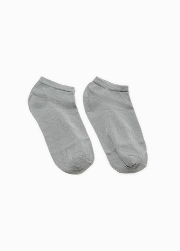 Short socks with lurex