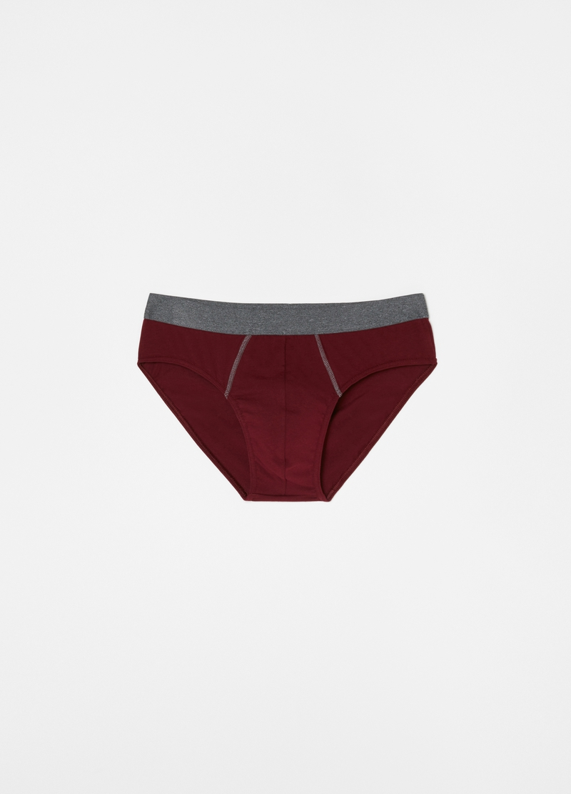 Three-pack briefs in stretch organic cotton image number null