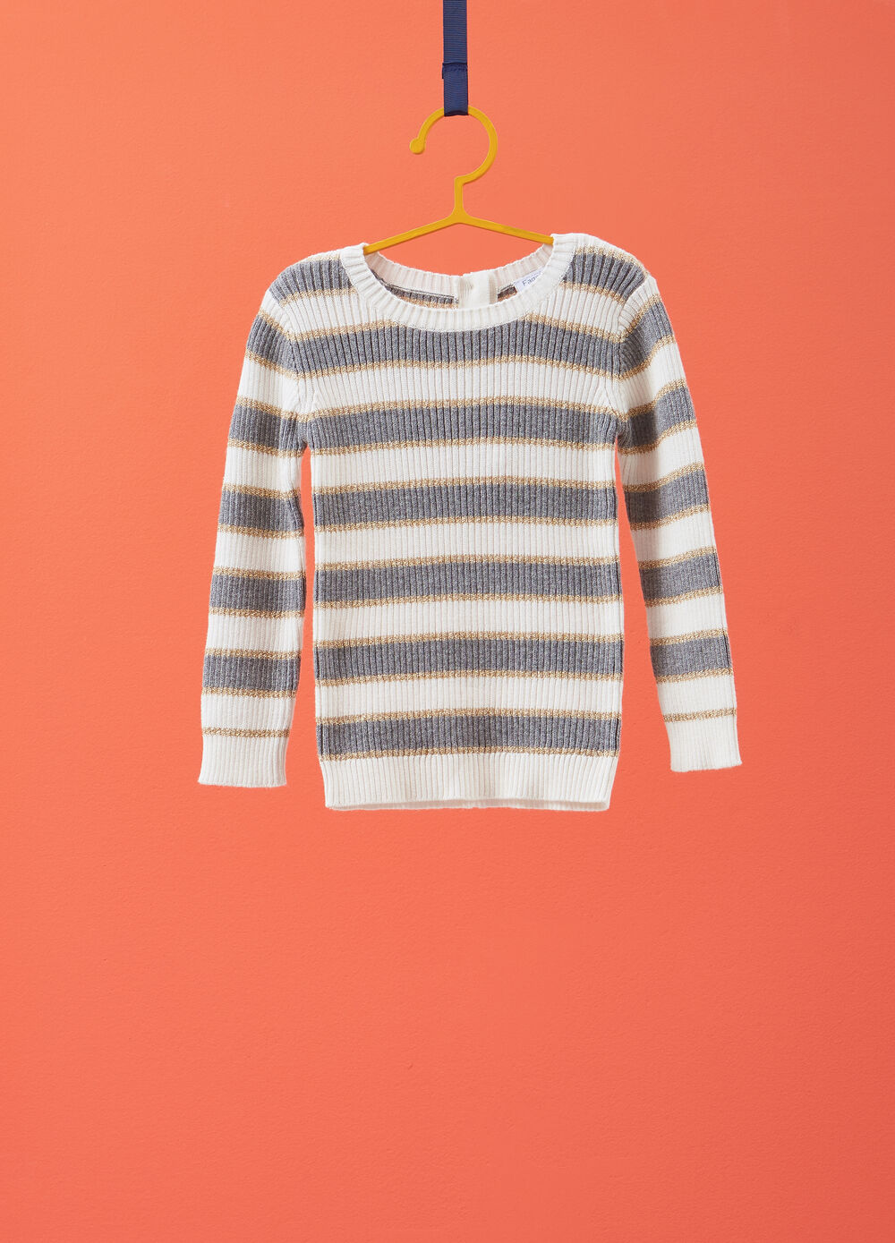 Pullover con lurex fantasia a righe