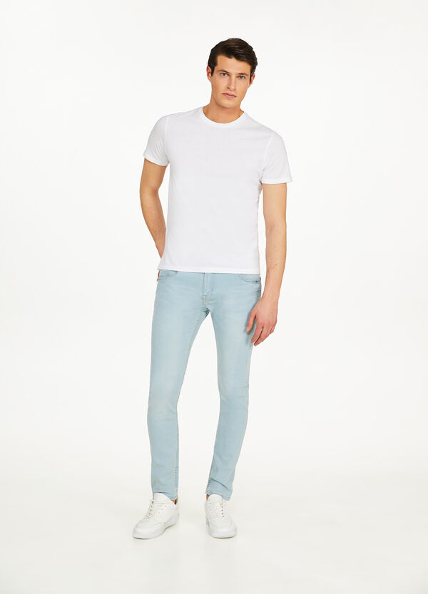 Jeans super skinny fit stretch tinta unita