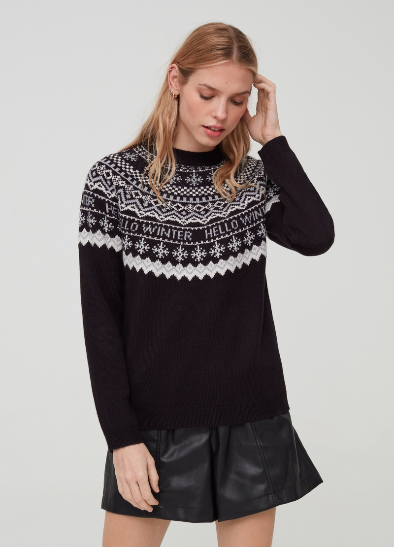 Christmas Jumper with jacquard design image number null