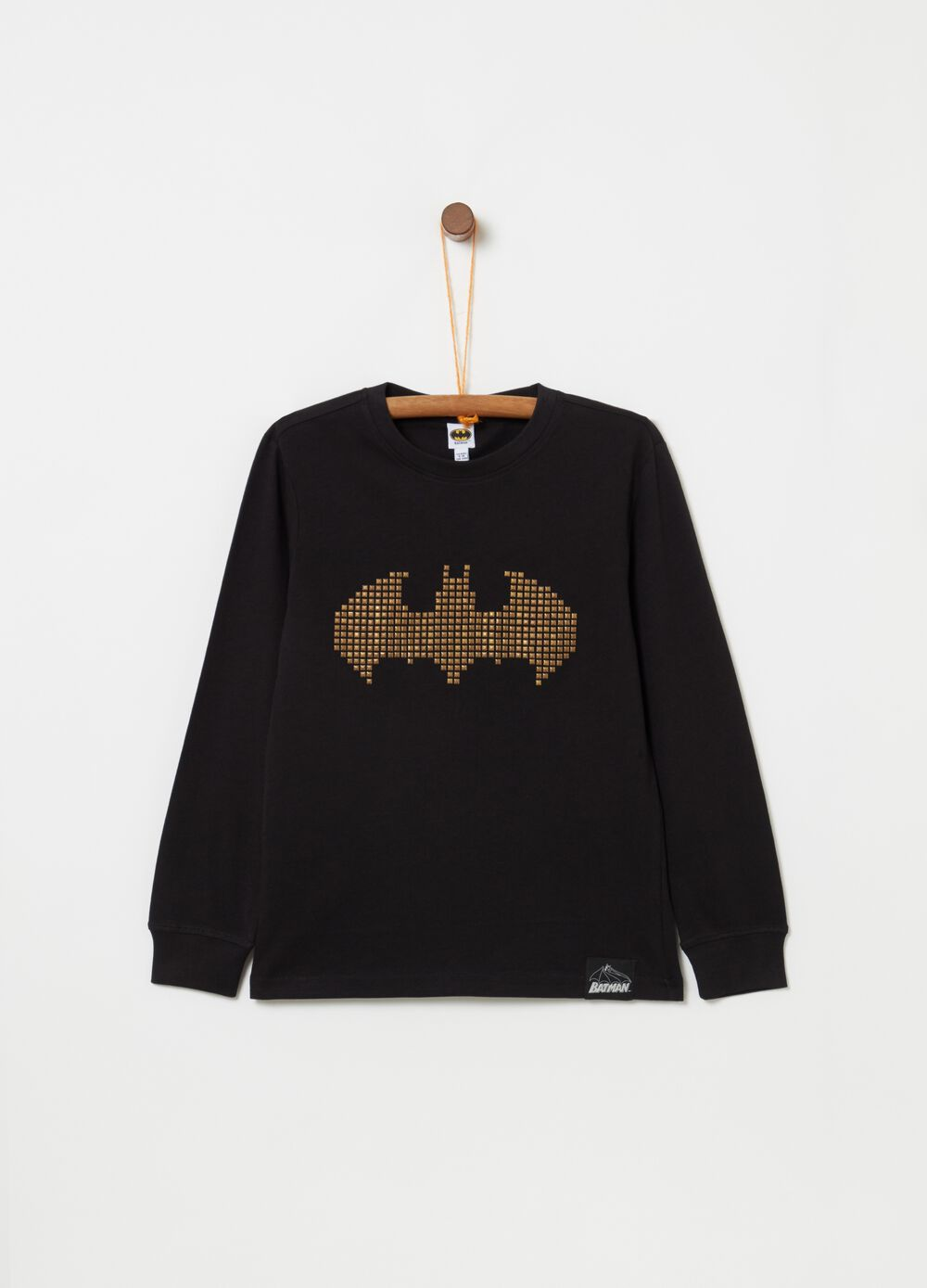 Batman T-shirt with studs and long sleeves [DC COMICS]