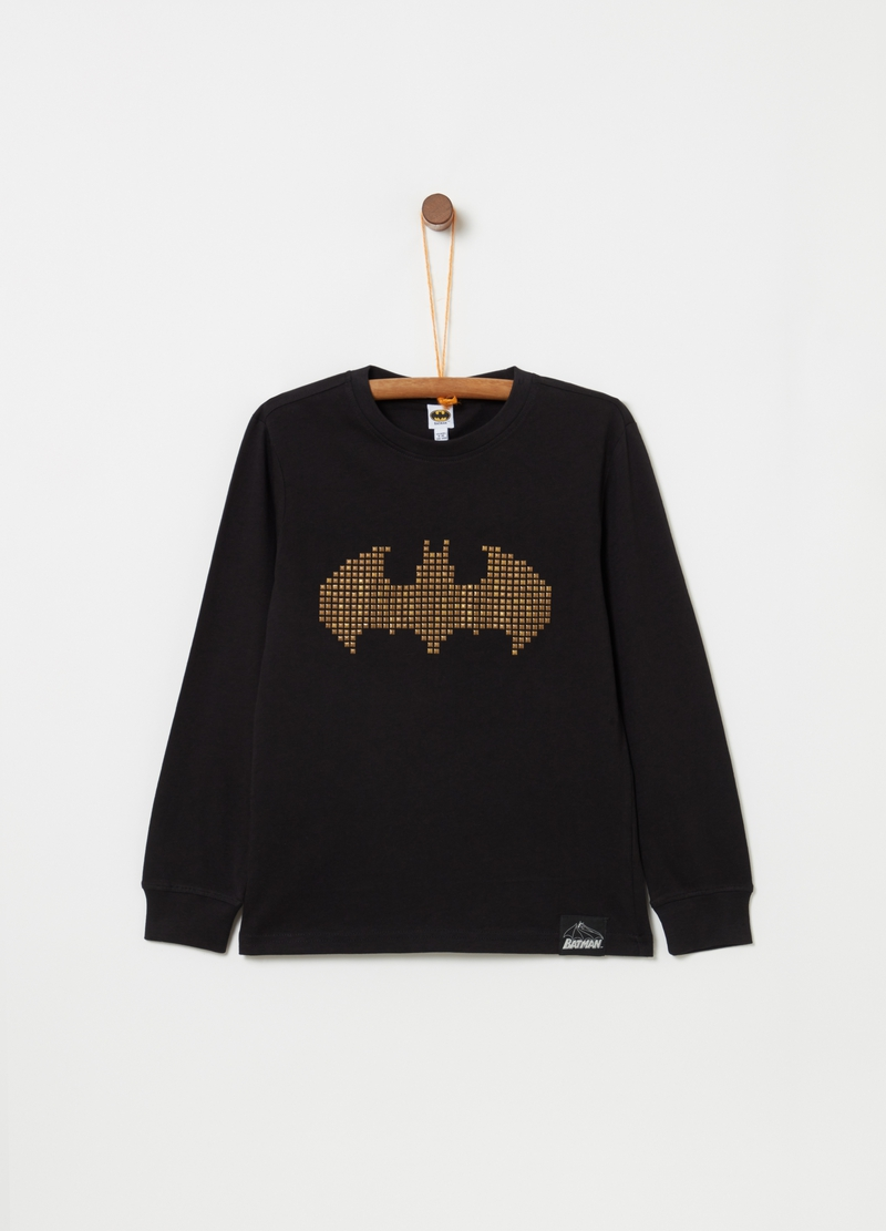 Batman T-shirt with studs and long sleeves [DC COMICS] image number null