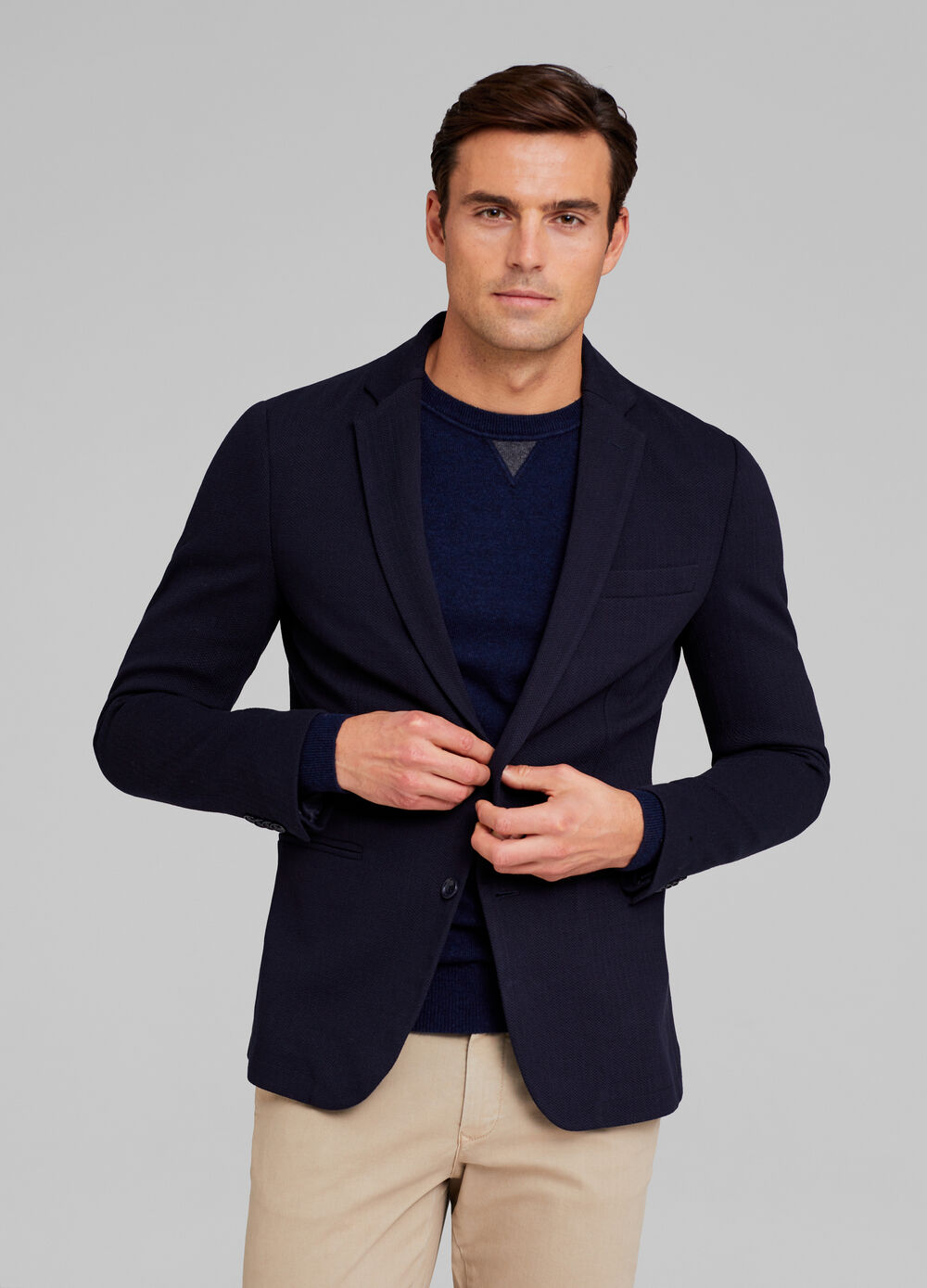 Two-button blazer with pocket
