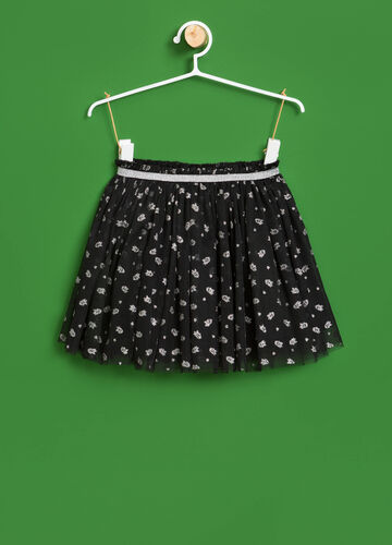 Tulle skirt with ghost pattern