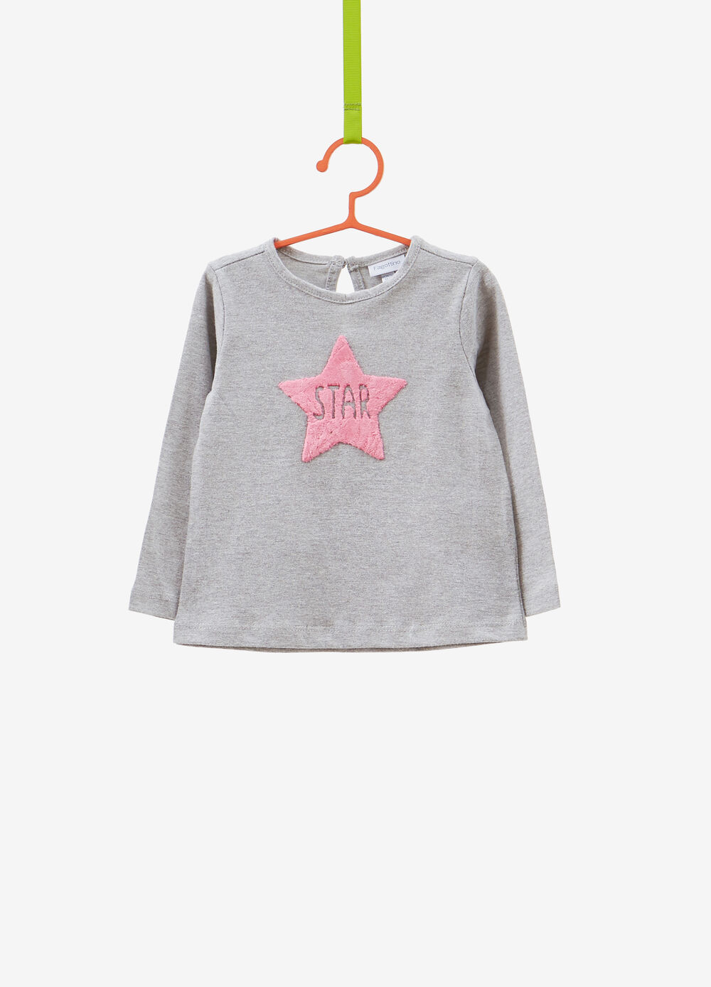 100% cotton T-shirt with star patch