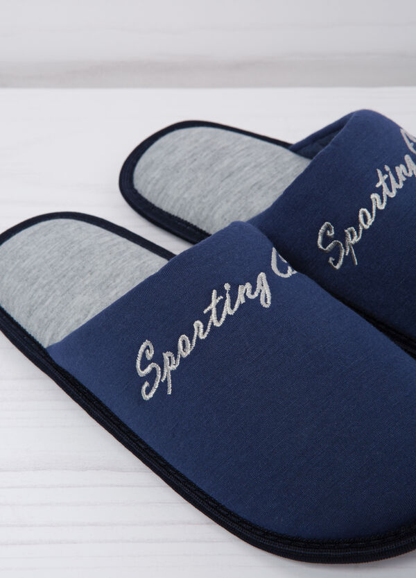 Slippers with embroidered lettering | OVS