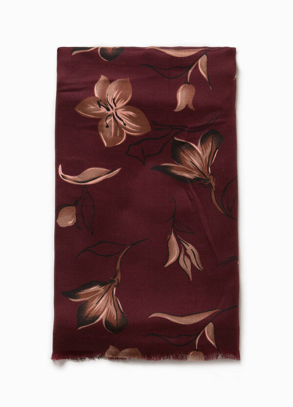 Floral pashmina with fringed edges | OVS
