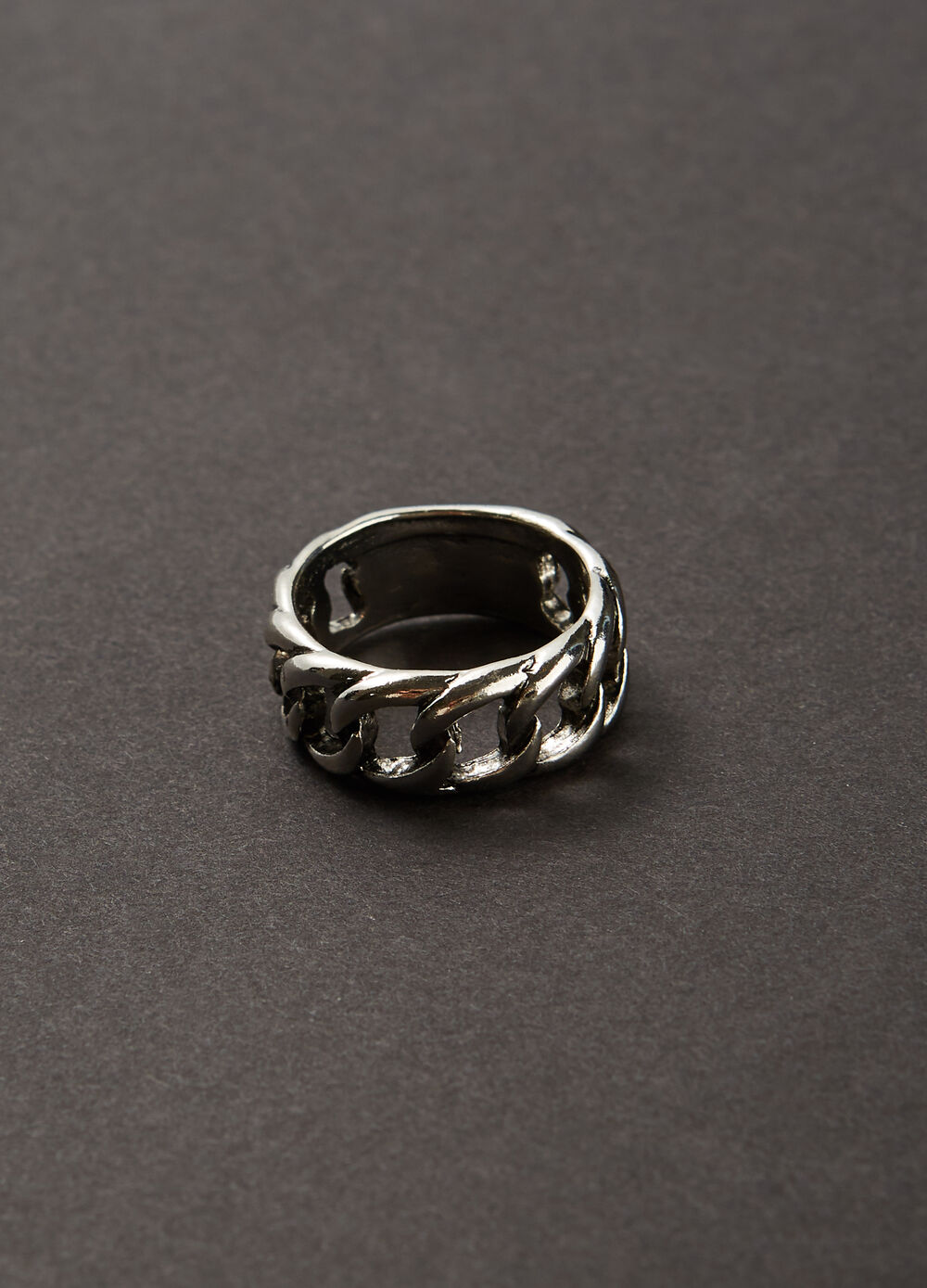 Band ring in plaited steel
