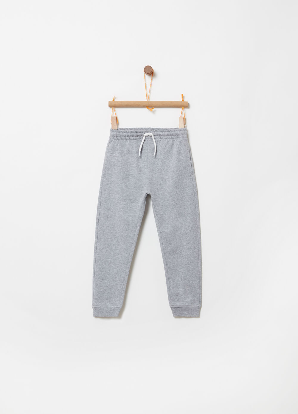 Biocotton trousers with functional pockets