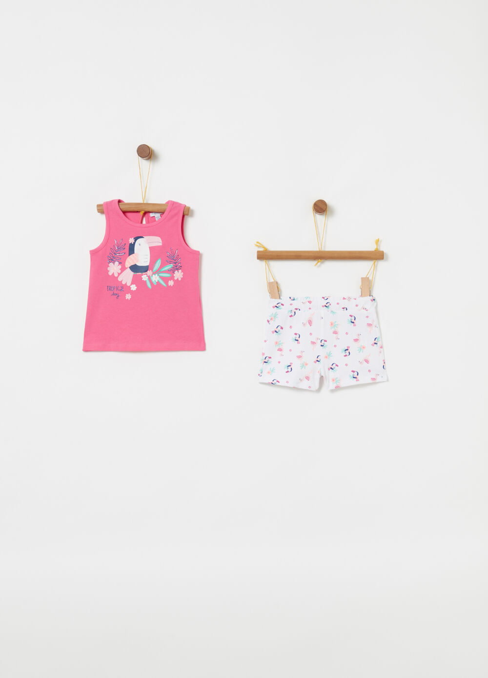 Jogging set tank top e shorts fantasia