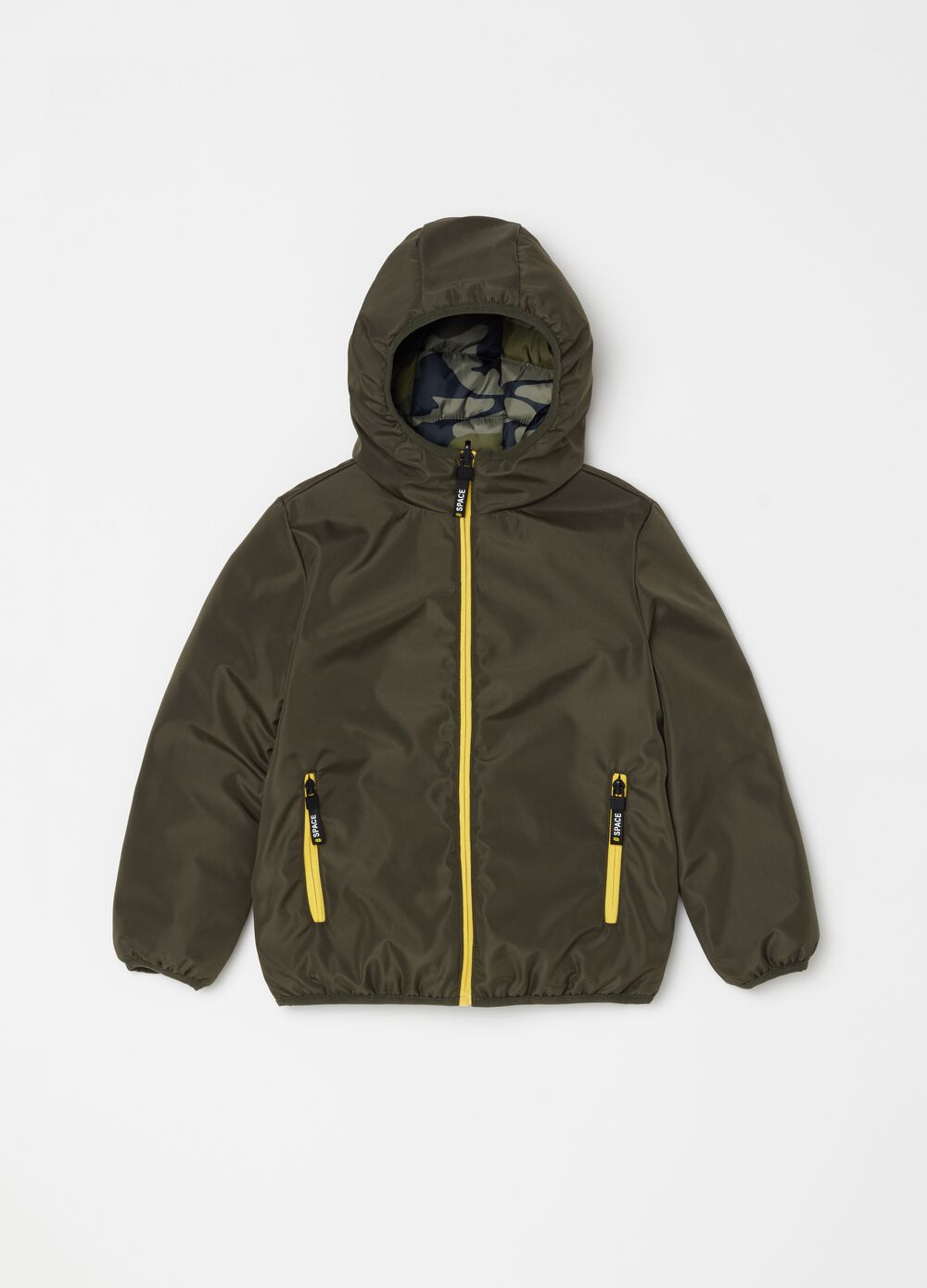 Padded and reversible jacket with zip
