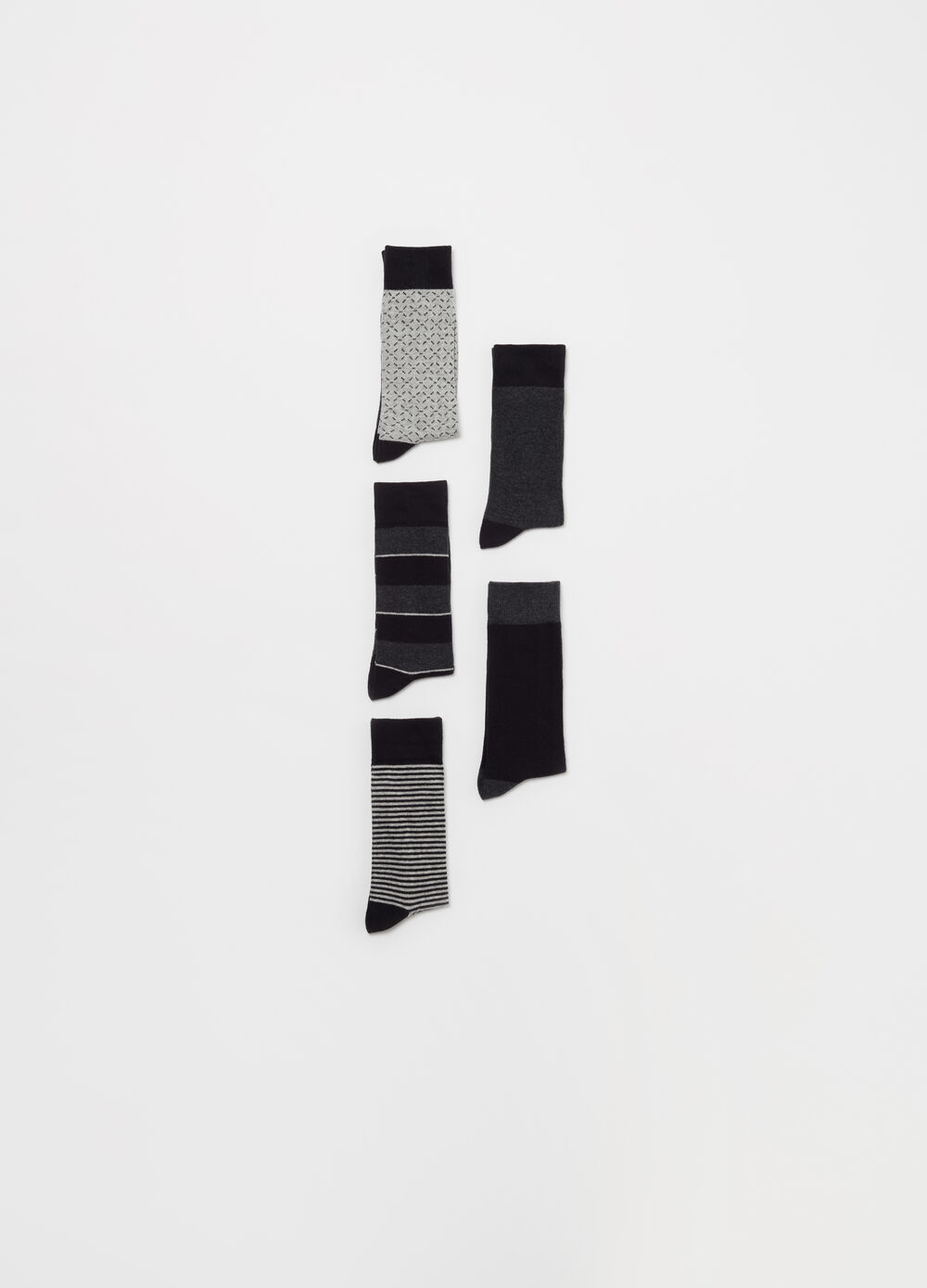 Five-pack long jacquard socks