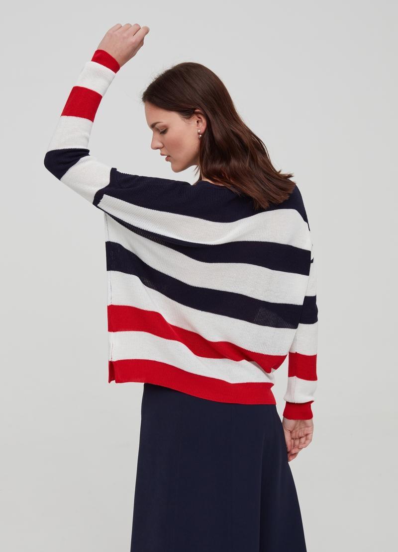 Pullover tricot a righe image number null
