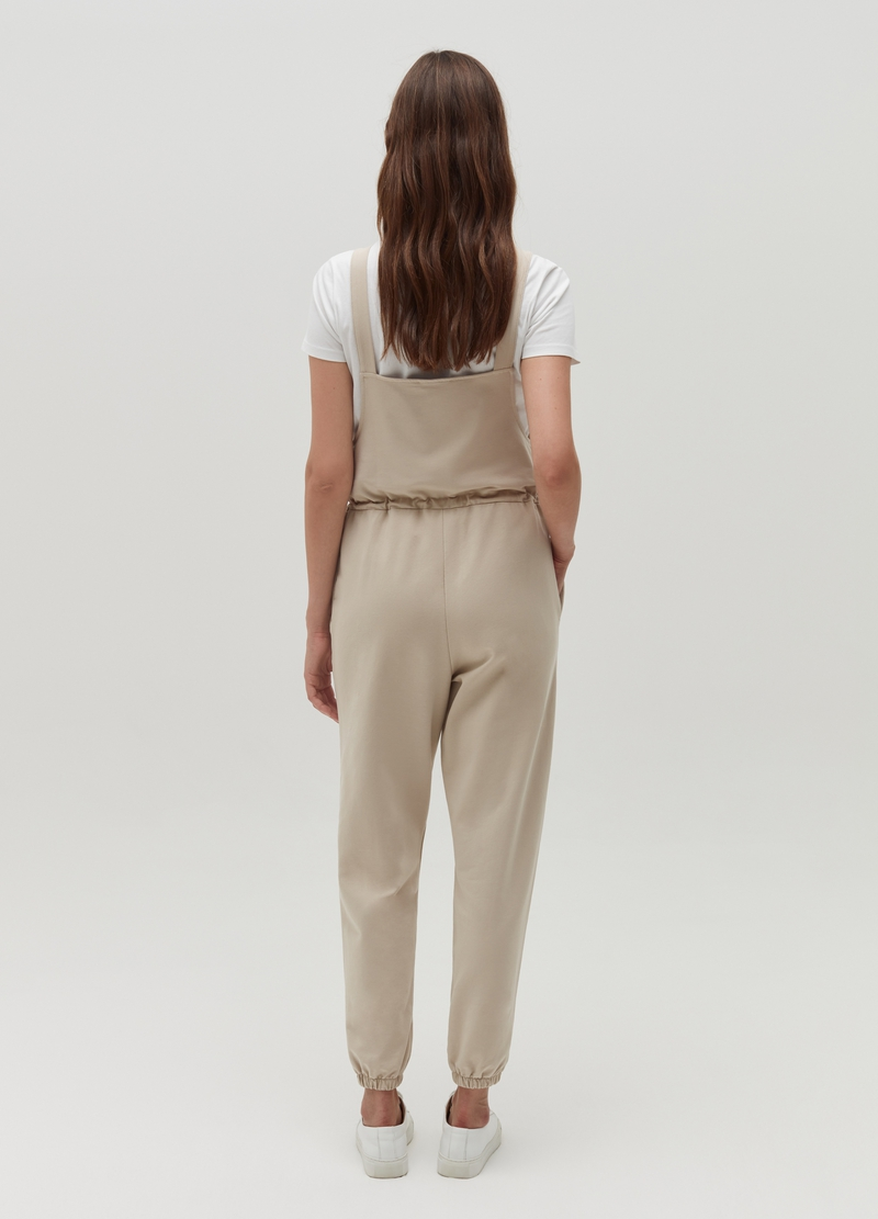 Salopette in cotone stretch con coulisse image number null