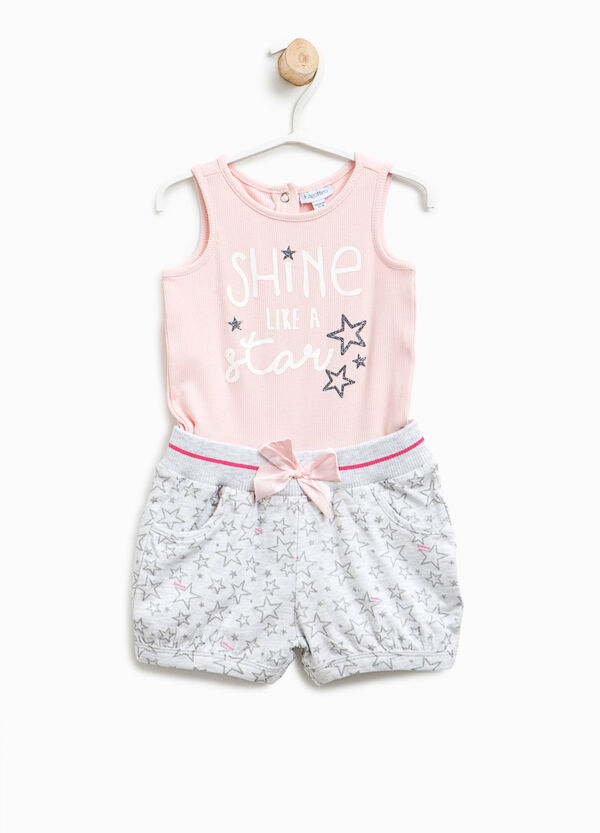 Sleeveless romper suit with faux layer | OVS