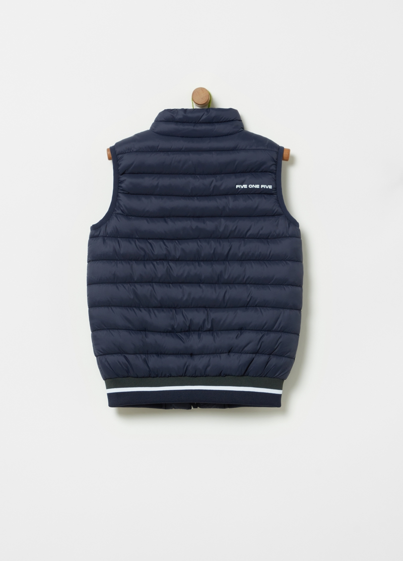Quilted gilet with pockets image number null