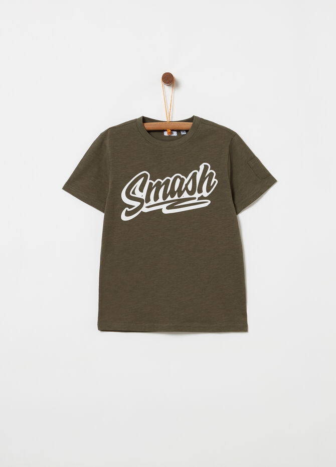 T-shirt with pocket and print