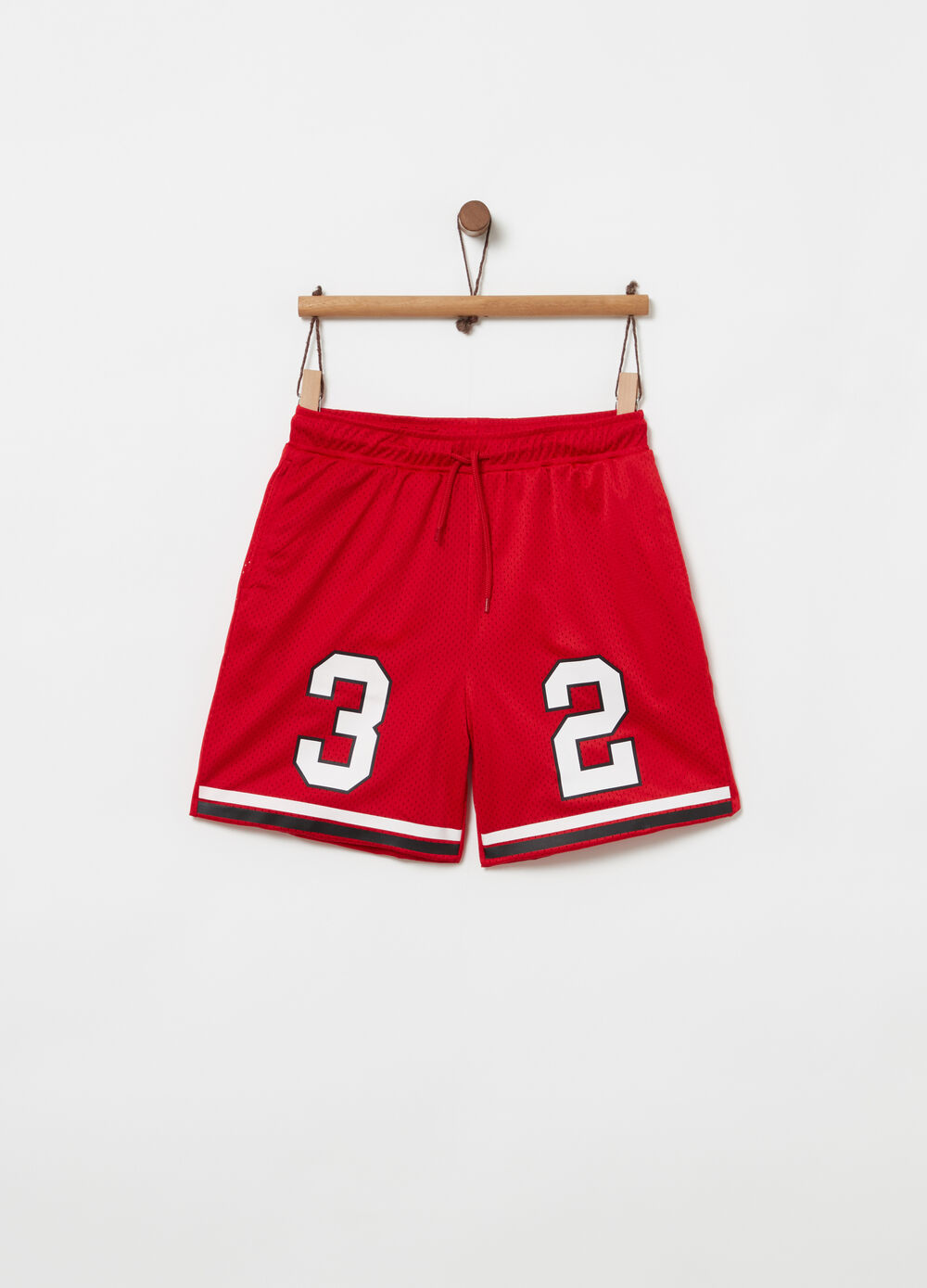 Shorts in mesh foderato in jersey coulisse