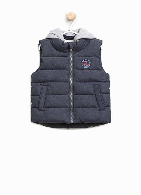 Padded gilet with patch and hood | OVS