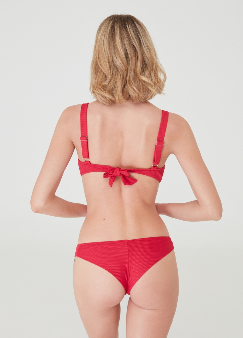 Brazilian bikini with stretch piquet image number null