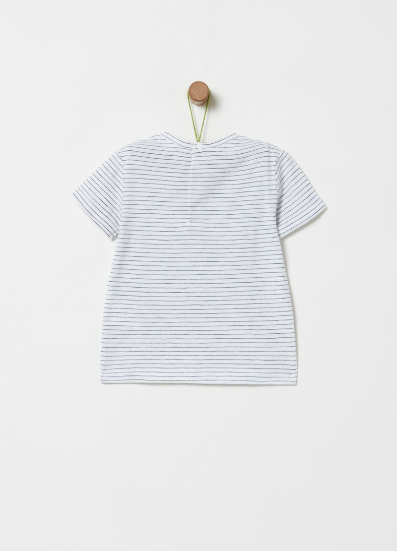 100% cotton T-shirt with braces and bow tie image number null