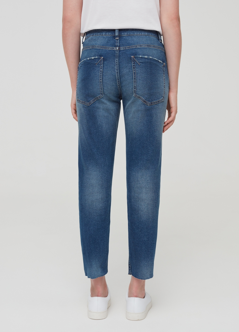 Jeans boyfriend slim fit con strappi image number null
