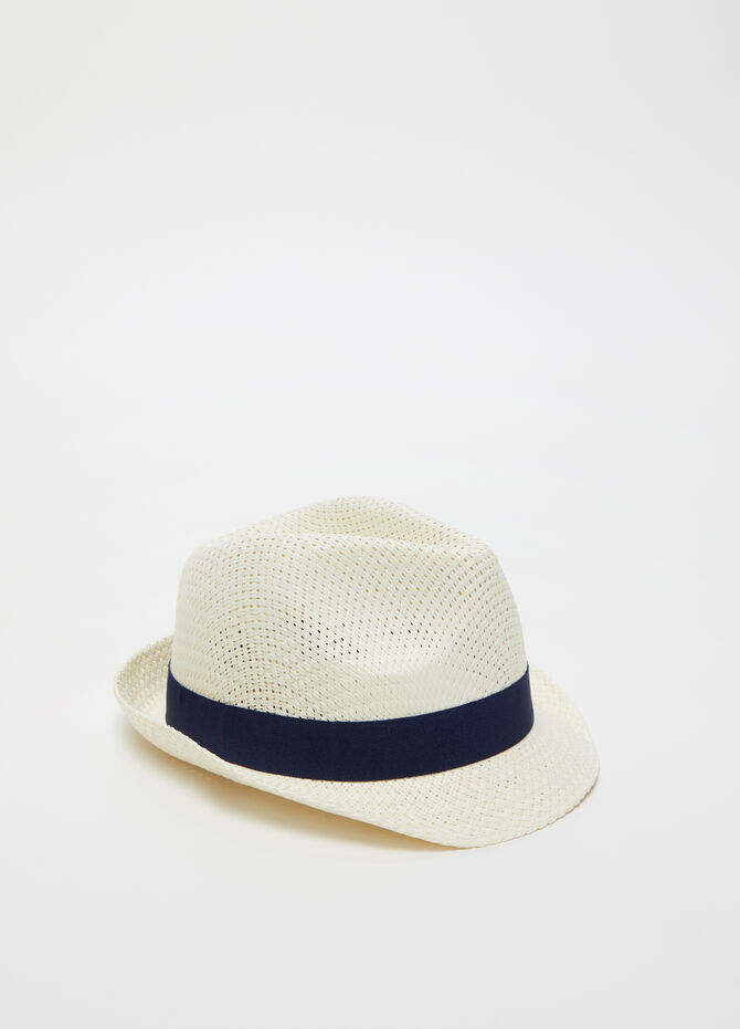 Straw hat with band