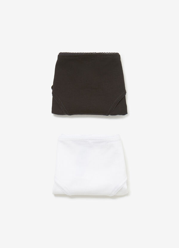 Two-pack solid colour stretch cotton briefs