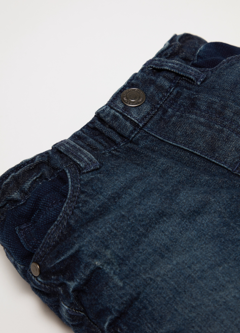 Washed jeans with five pockets image number null