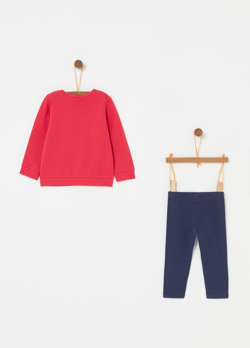 Jogging set con stampa lettering image number null