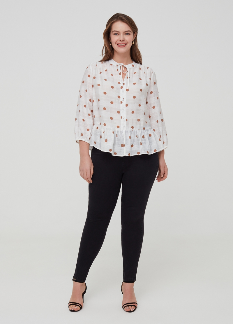 Blusa a pois Curvy image number null