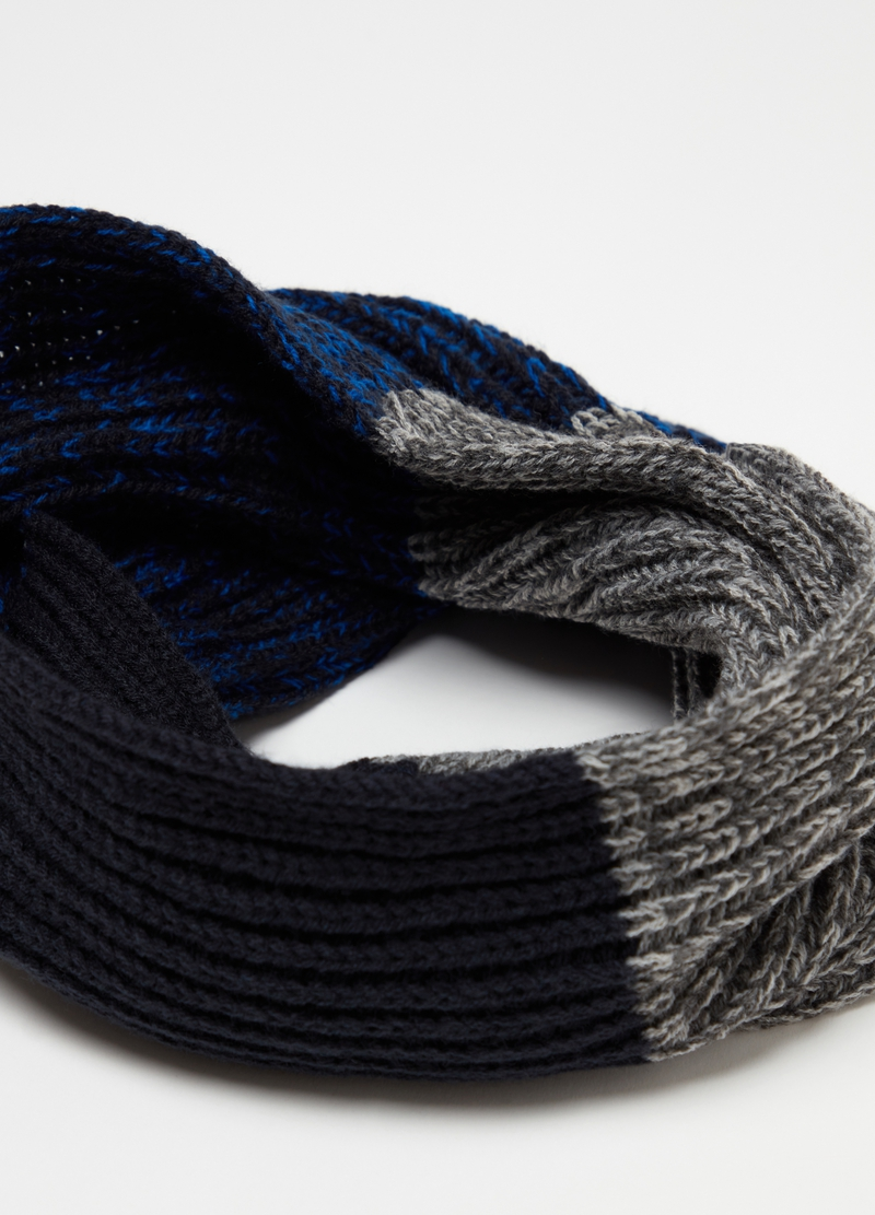 Knitted colour-block scarf image number null