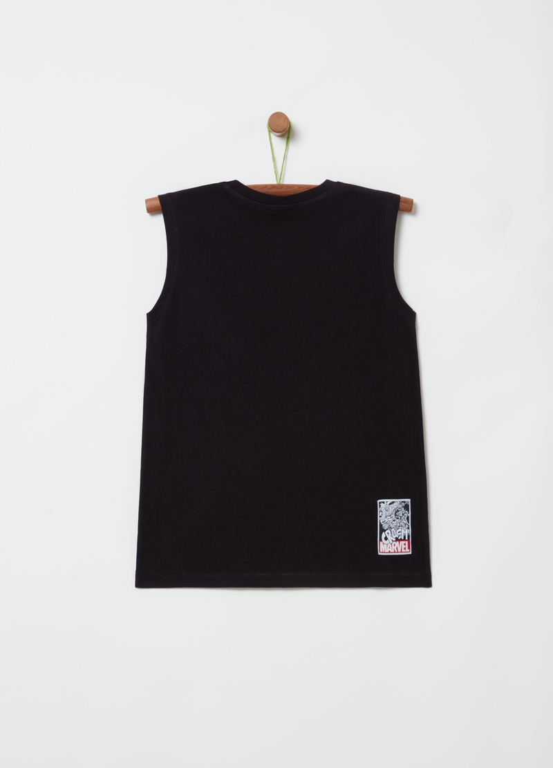 Tank top with Marvel comics print image number null